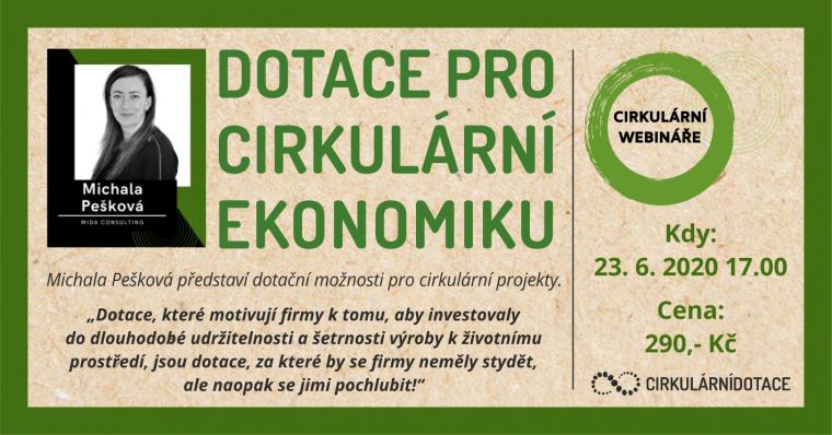 pozvánka na webinář Dotace pro cirkulární ekonomiku